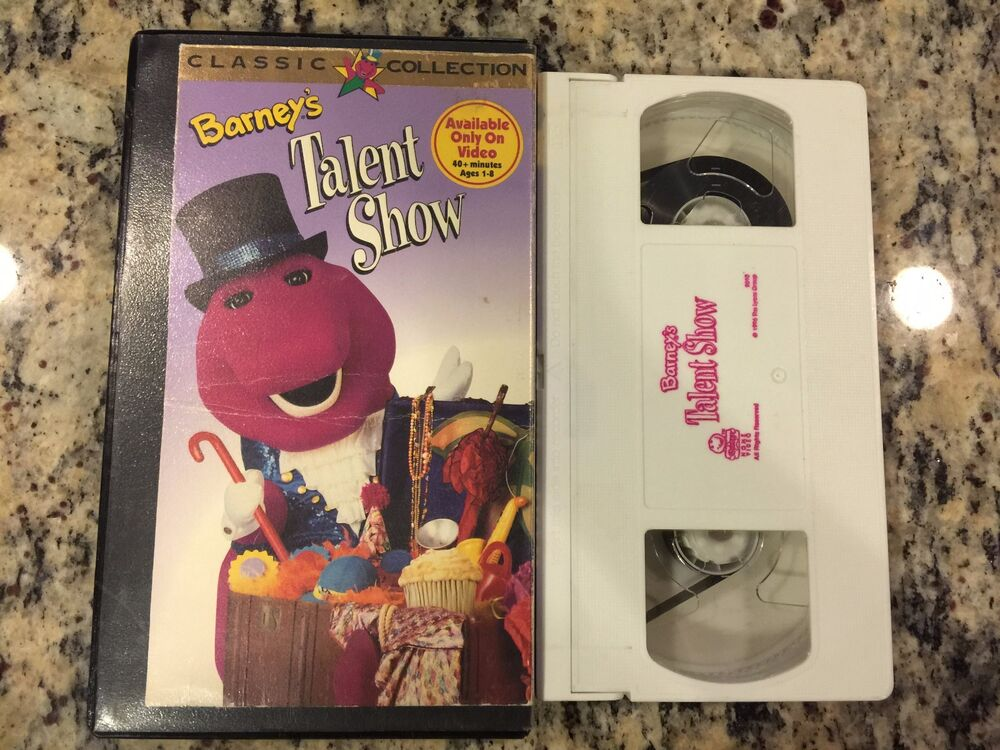 Sell Vhs Tapes >> BARNEY'S TALENT SHOW RARE OOP VHS! NOT ON DVD! 1996 ...