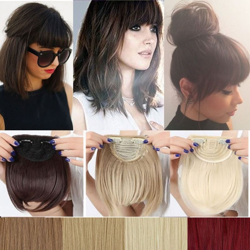Red Bangs Extensions Human Hair Extensions