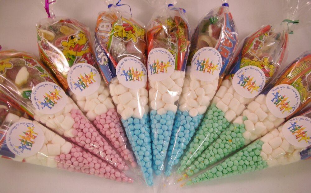 Personalised Pre Filled Sweet Cones Kids Birthday Party