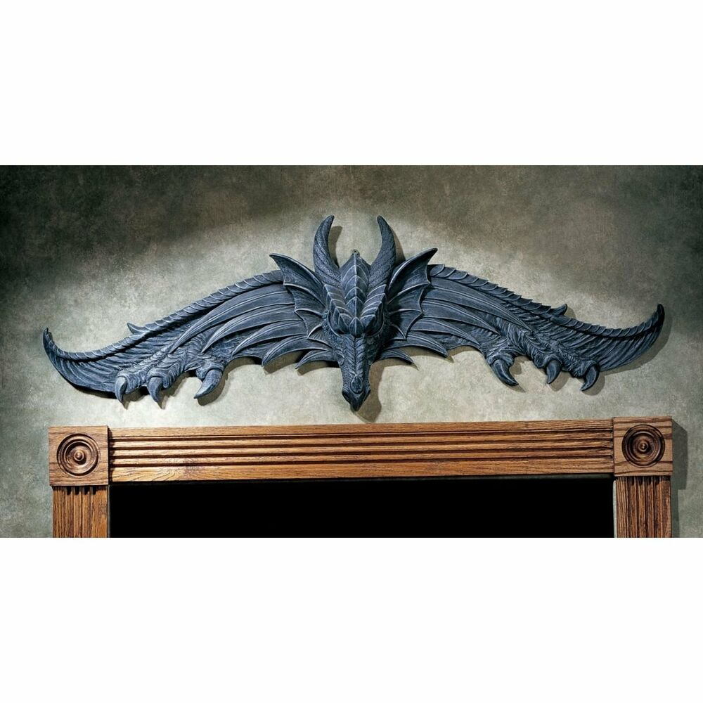 Dragon wing claw statue wall hanging art sculpture for Hanging wall decor