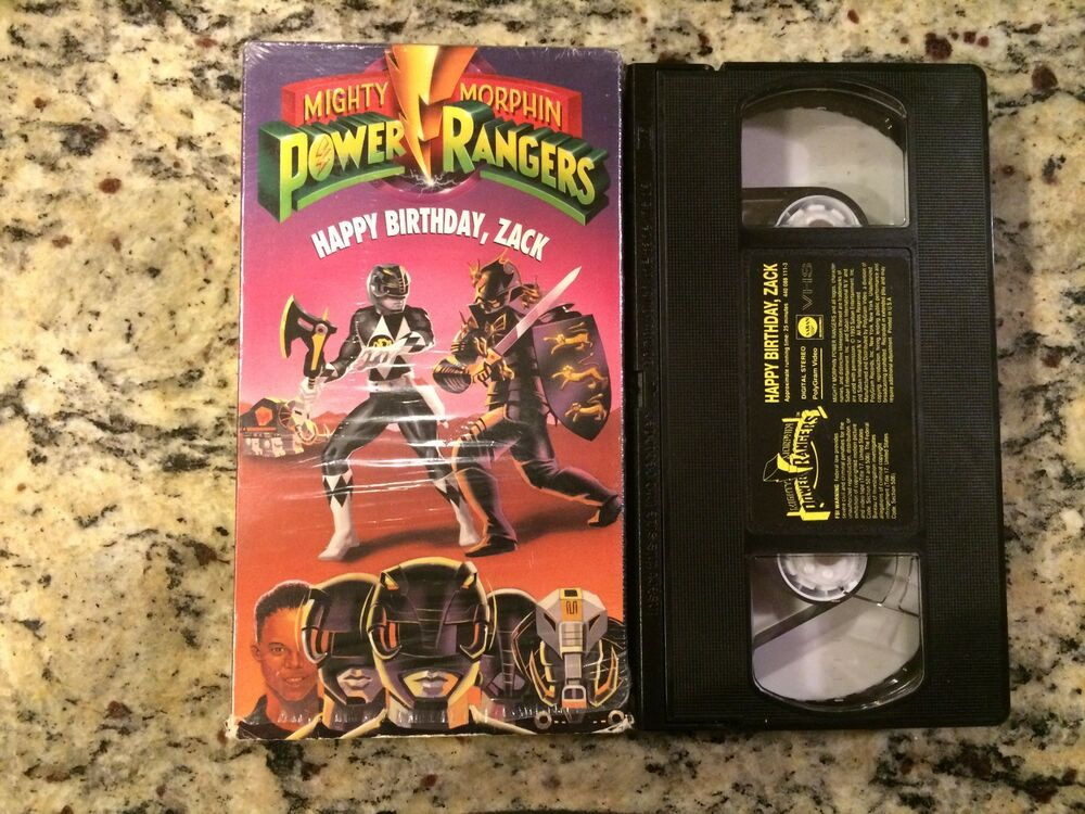 Sell Vhs Tapes >> MIGHTY MORPHIN POWER RANGERS HAPPY BIRTHDAY, ZACK RARE VHS ...