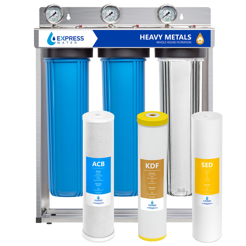 Whole House Water Filter System Carbon Kdf Sediment 3