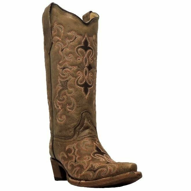 Ladies Circle G Cowgirl Boots By Corral Style L5132 Brown