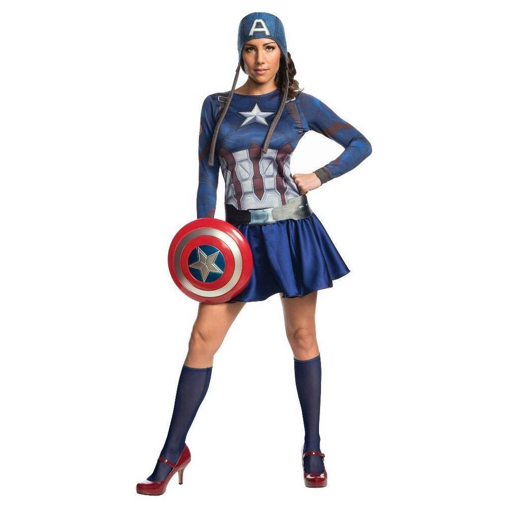 Captain America Civil War Female Adult Costume Size10-14 Marvel Rubies 820096 | EBay