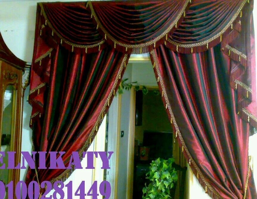 Italian Curtains Model Desinge Drapery 100 Custom Made Tassel Valances Vf Ebay