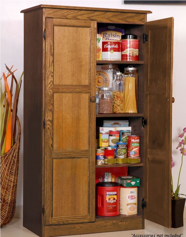 Kitchen Storage Pantry Cabinet Oak ~ Storage cabinet for kitchen country cupboard pantry oak