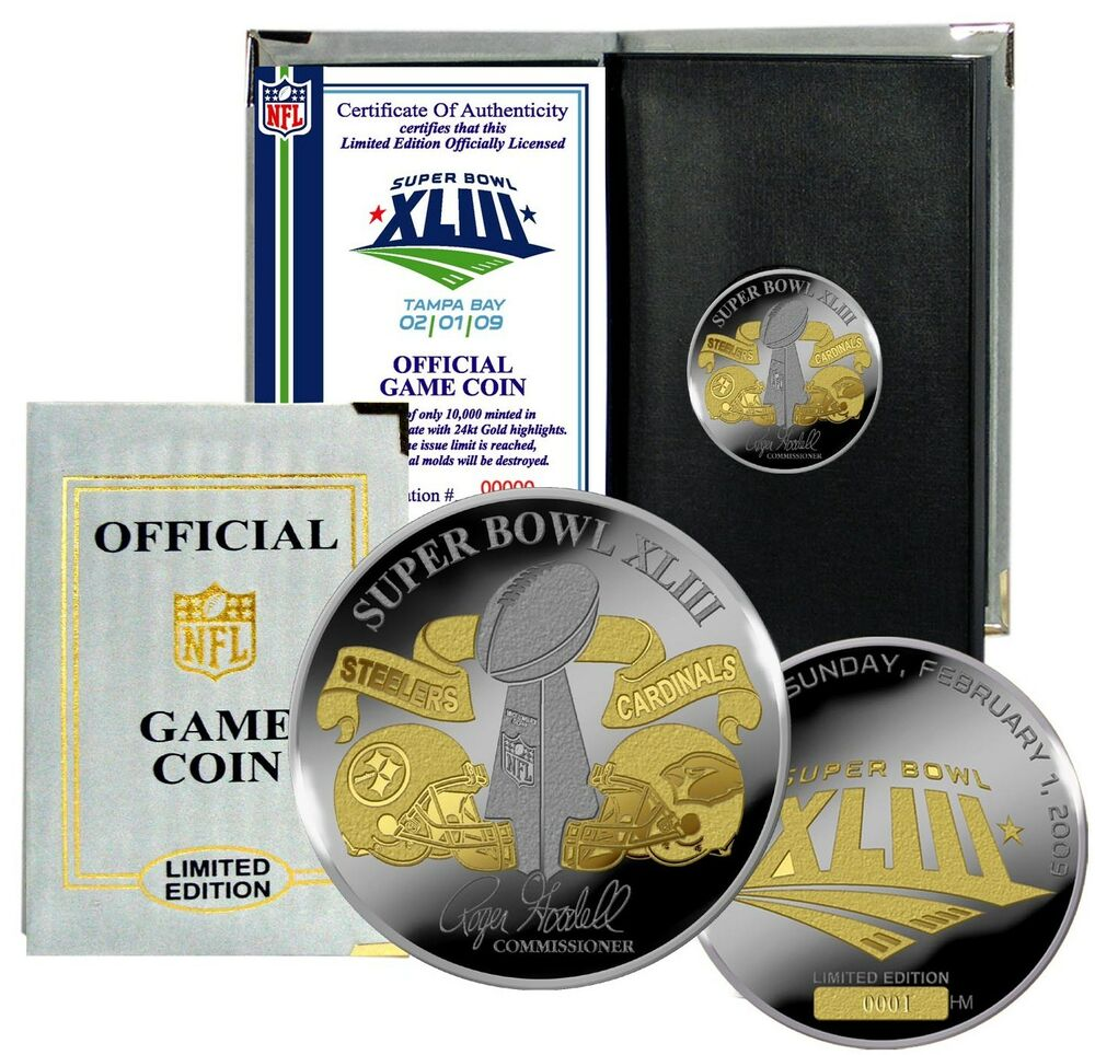 Pittsburgh Steelers Super Bowl Xliii Gold Silver Plated Le