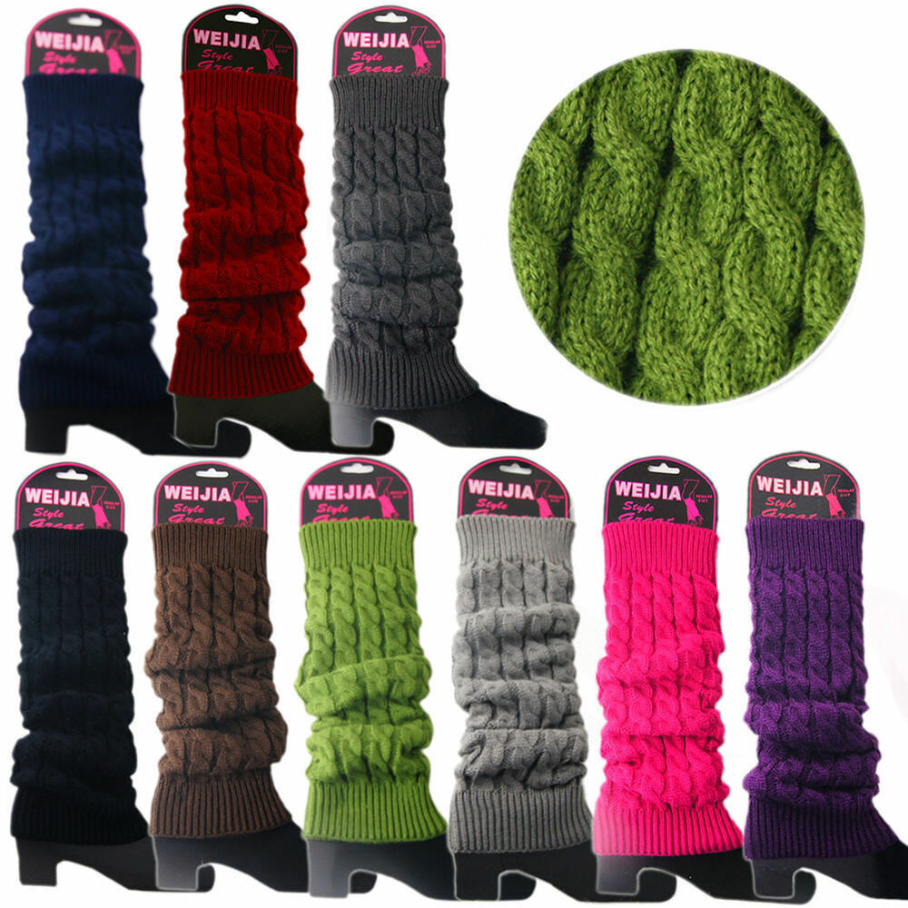 Knitting Pattern For Ladies Long Socks : New Women Ladies Winter Warm Leg Warmers Cable Knit ...