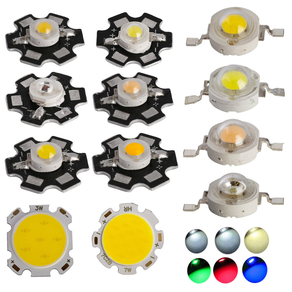 10x 50x smd cob led chip with star pcb high power beads. Black Bedroom Furniture Sets. Home Design Ideas