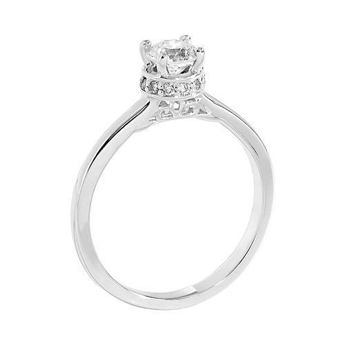 Simply Vera Vera Wang Diamond Solitaire Engagement Ring In 14k White Gold 5 8ct