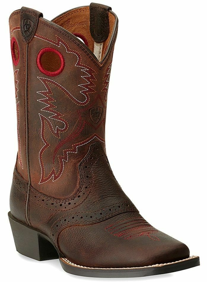Children S Youth Ariat Roughstock Western Boot Red