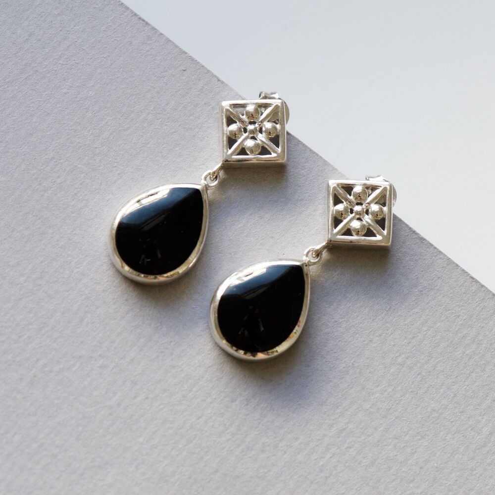 black earrings for womens s earrings black onyx earrings 925 sterling silver 359