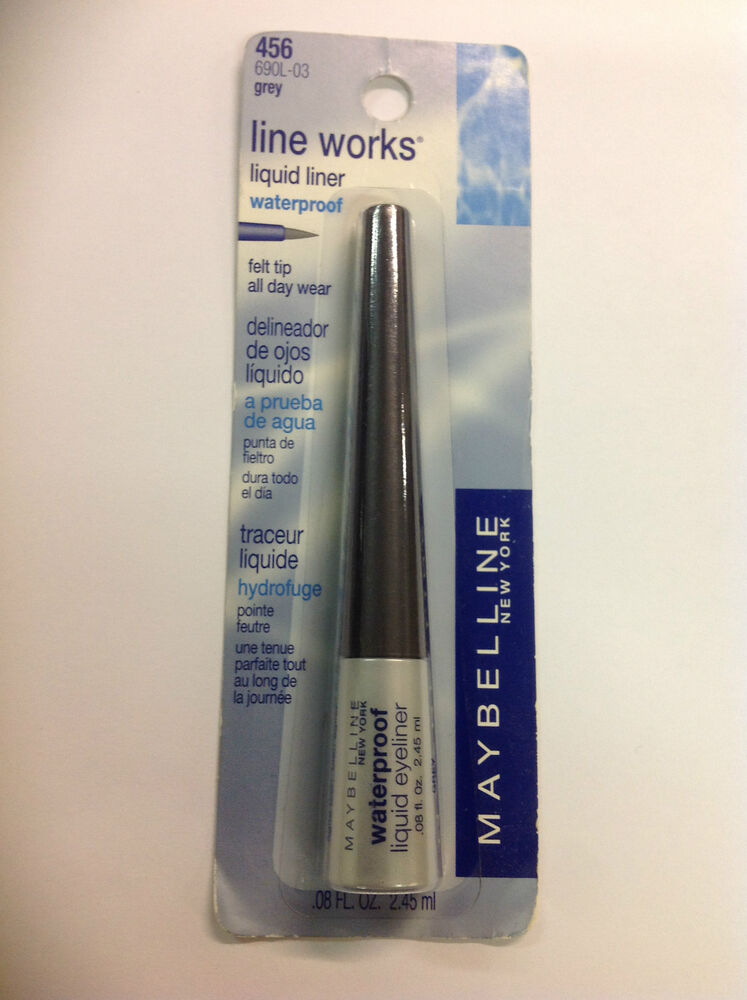 Beautiful Grey Waterproof Flooring Ideas For Living Room: Maybelline Line Works Waterproof Liquid Eye Liner Felt Tip
