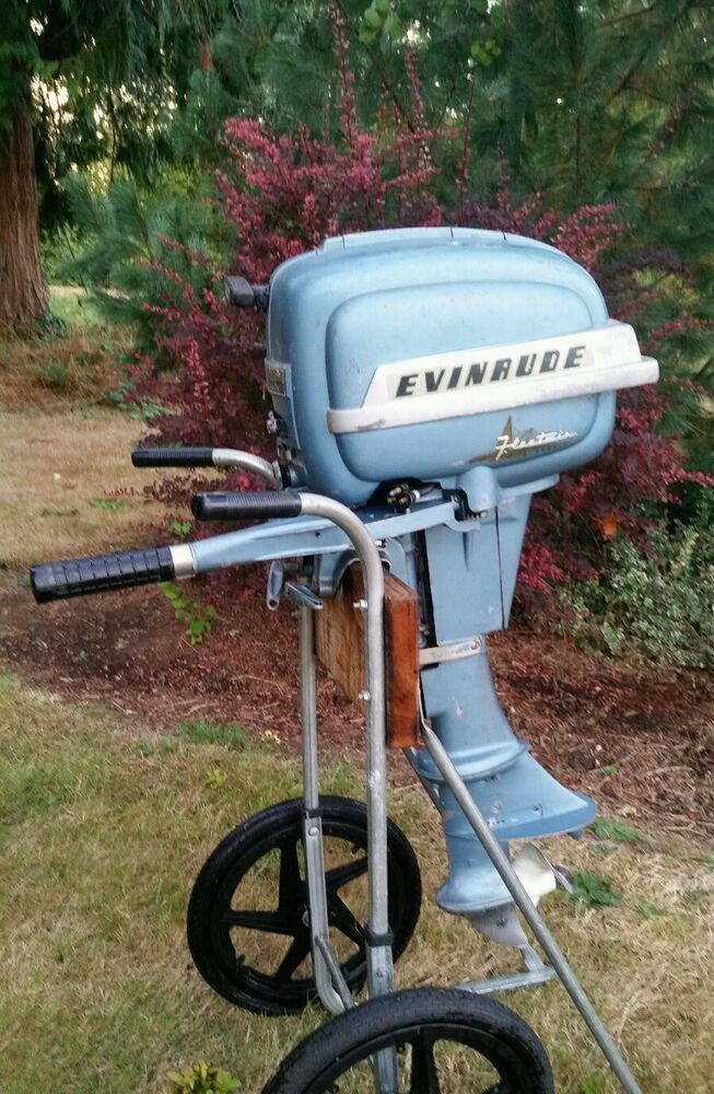 1954 evinrude 7 5 hp fleetwin complete running outboard for Ebay boat motors outboard