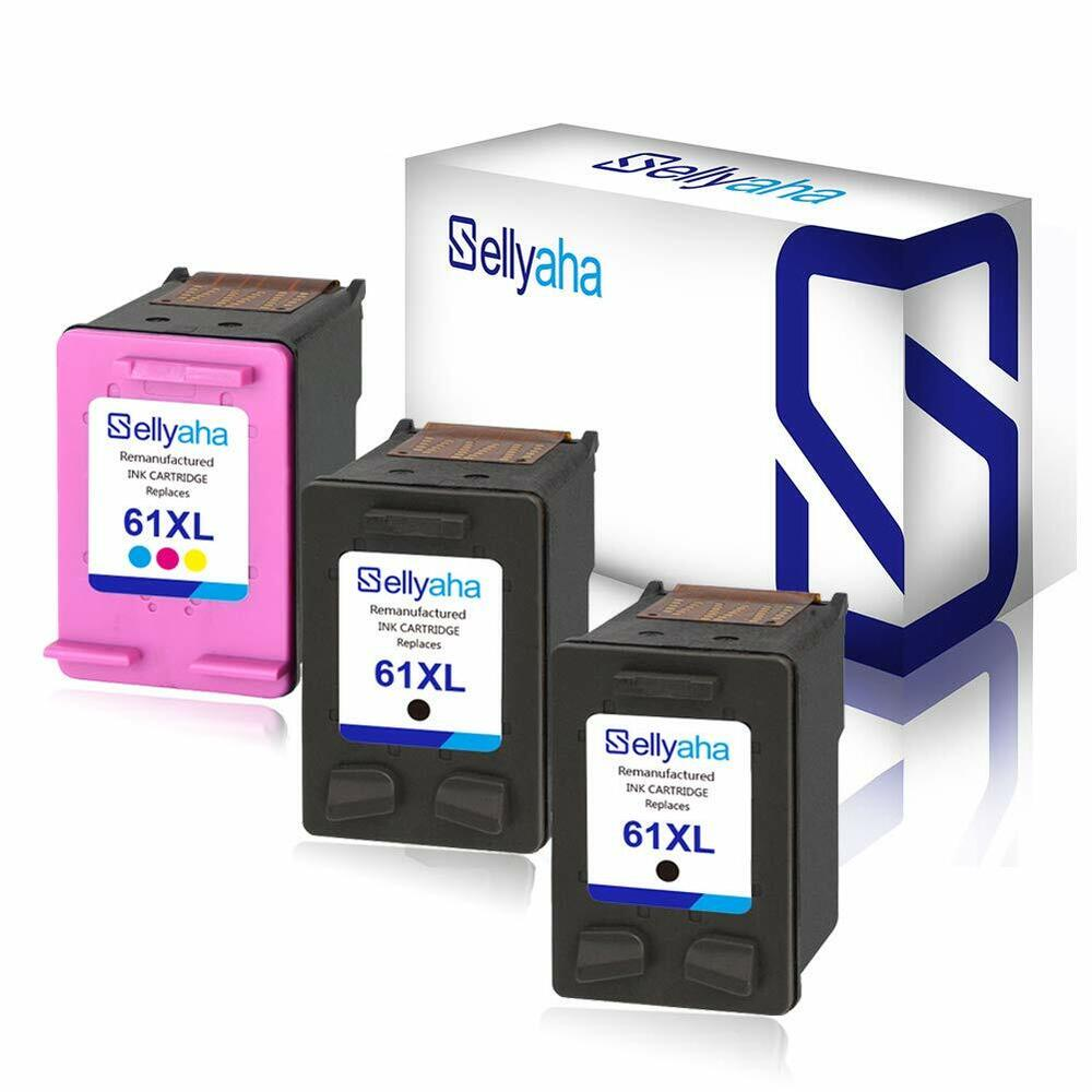 3 pack ink cartridge for hp 61xl ch563w ch564w deskjet. Black Bedroom Furniture Sets. Home Design Ideas