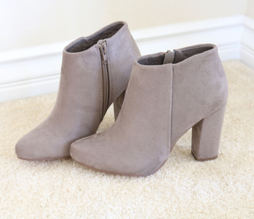 fall chic faux suede ankle boots booties with