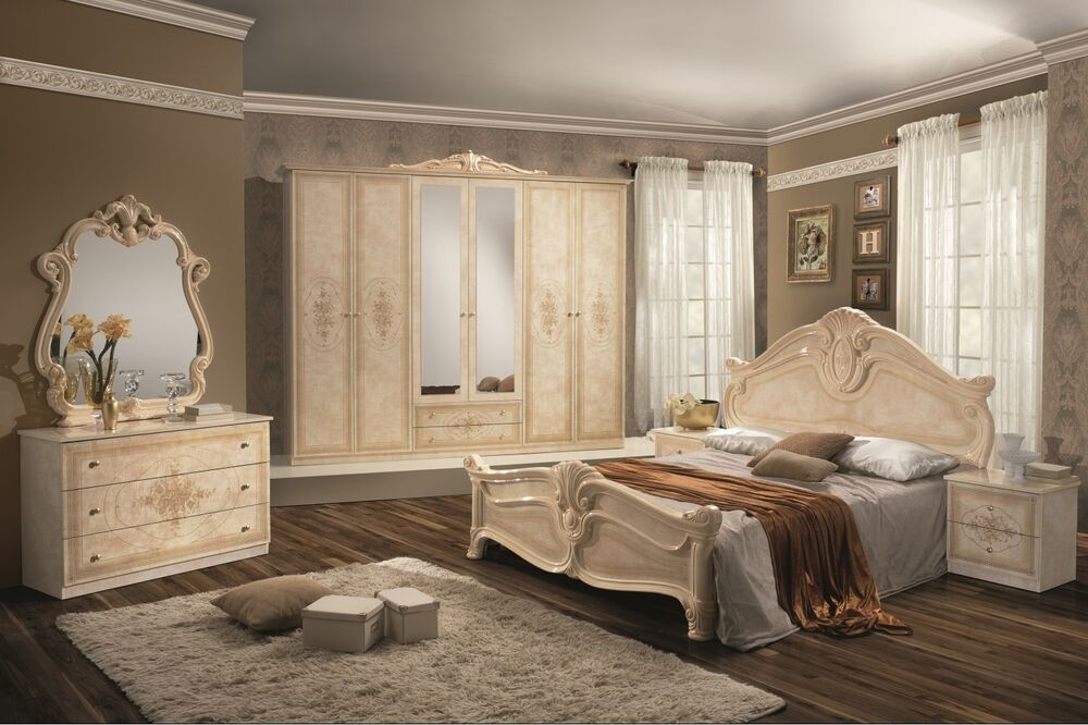 schlafzimmer amal in beige 6 t rig luxus italienische. Black Bedroom Furniture Sets. Home Design Ideas