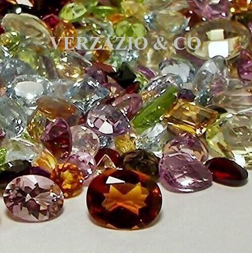 100 ct mix lot faceted gemstones mixed gems