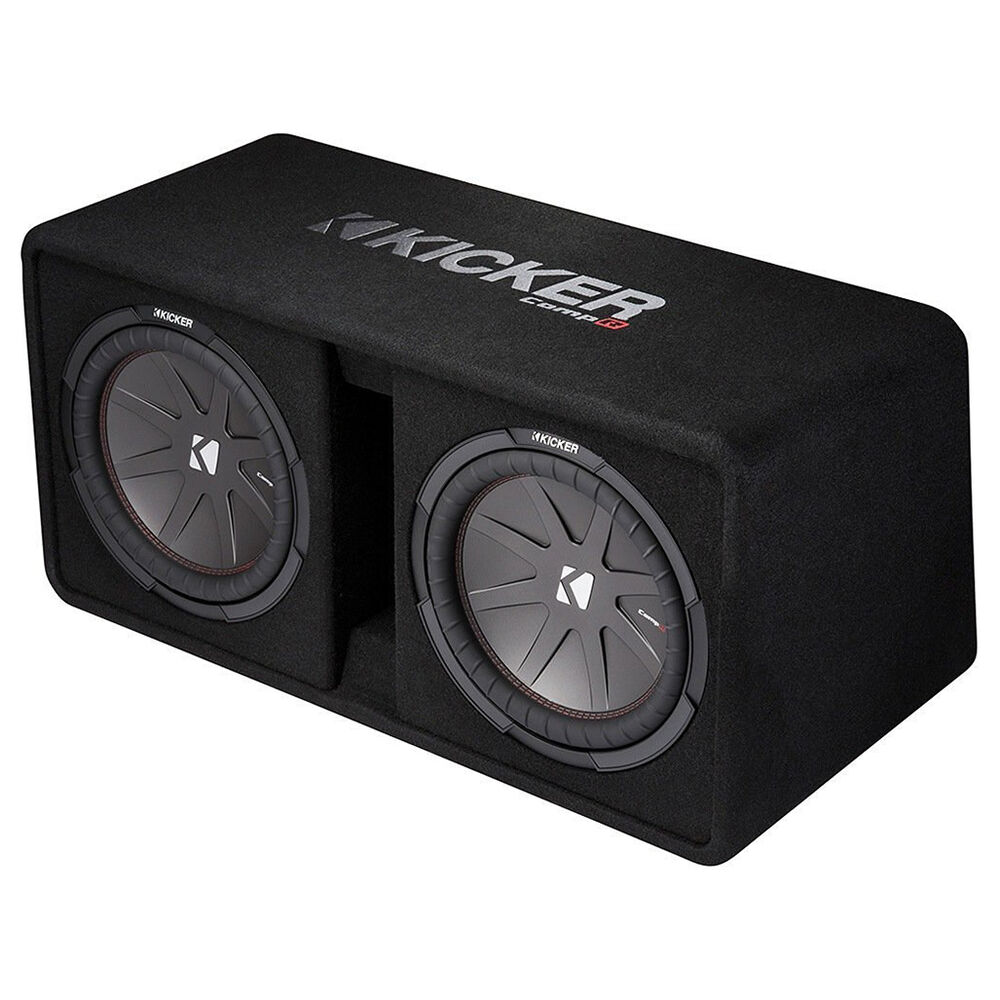 12 kicker subwoofers kicker dual 12 inch 2000w loaded subwoofer enclosure refurbished 43dcwr122