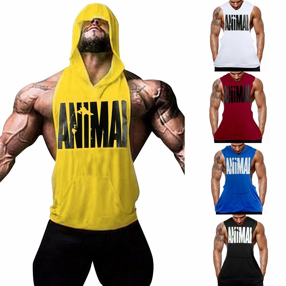 Hot men gym clothing bodybuilding stringer hoodie tank top Fitness shirts for men