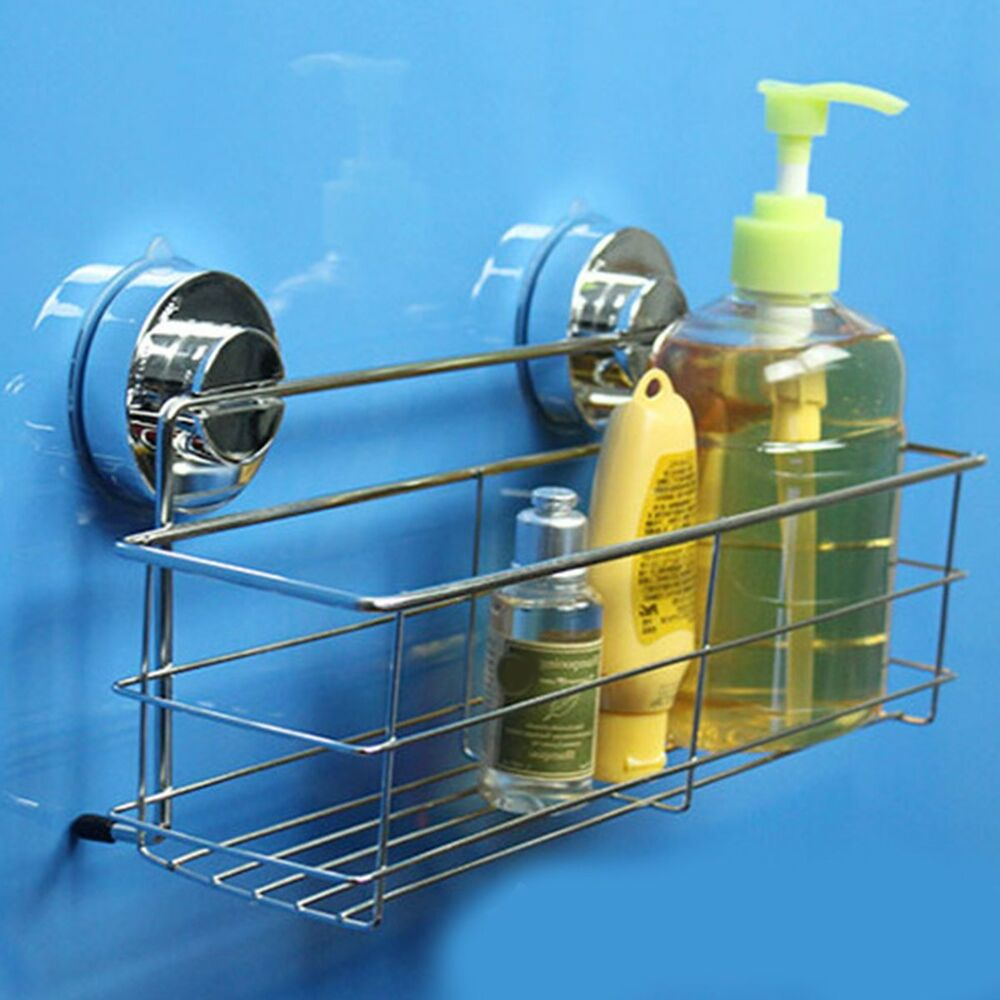 Stainless Steel Kitchen Bathroom Shower Storage Basket Caddy Shelf ...