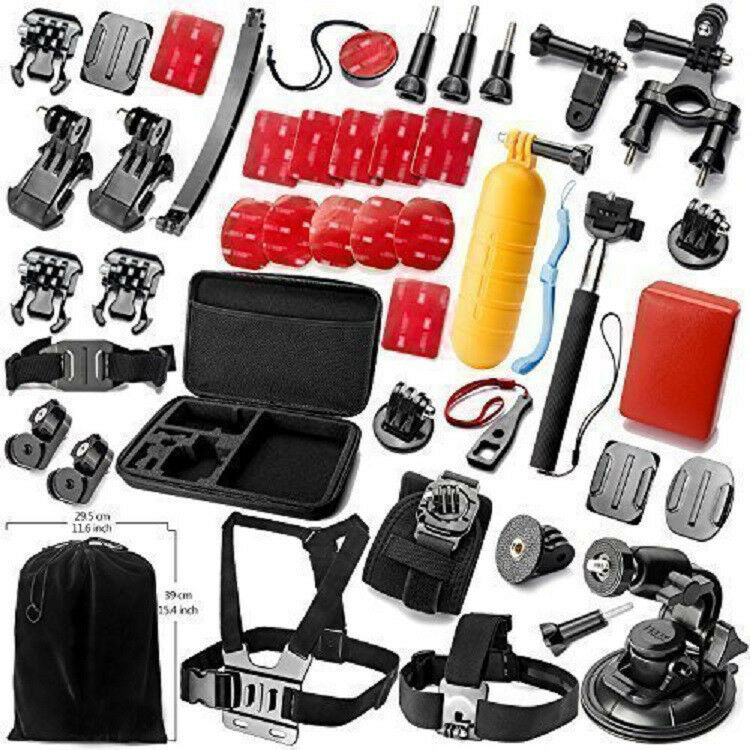 accessories kit mount for gopro go pro hd hero 5 4 session 3 3 2 sjcam sj4000 ebay. Black Bedroom Furniture Sets. Home Design Ideas