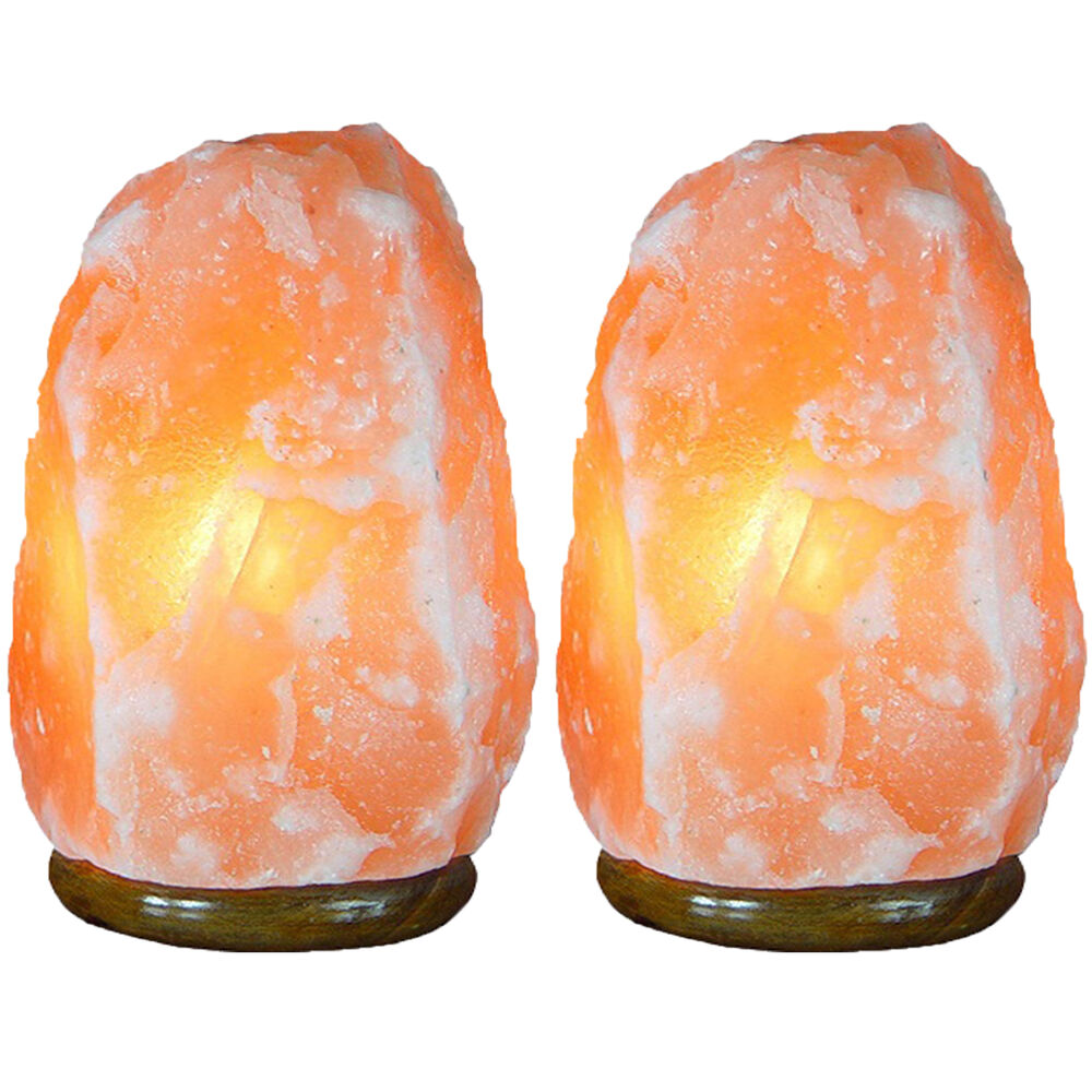 Pack of 2 Himalayan Rock Salt Lamp Hand Crafted Ionizer Air Purify 5 ~ 7 LBS eBay