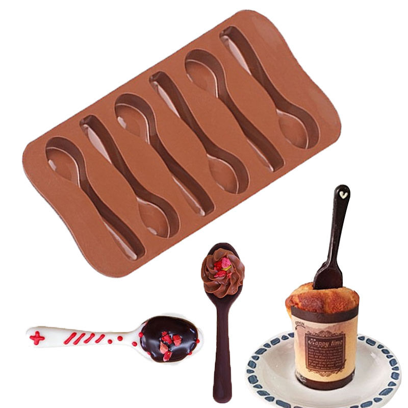 Spoon Utensils Silicone Soap Mold Candy Chocolate Fondant