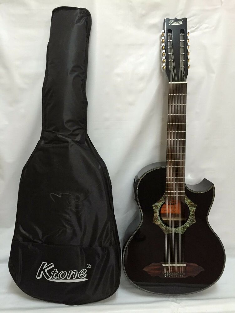 12 string bajo sexto acoustic electric guitar with gig bag brand new ebay. Black Bedroom Furniture Sets. Home Design Ideas
