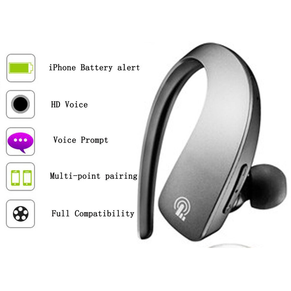 mic wireless stereo bluetooth handsfree headset headphone earpiece for iphone 7 ebay. Black Bedroom Furniture Sets. Home Design Ideas