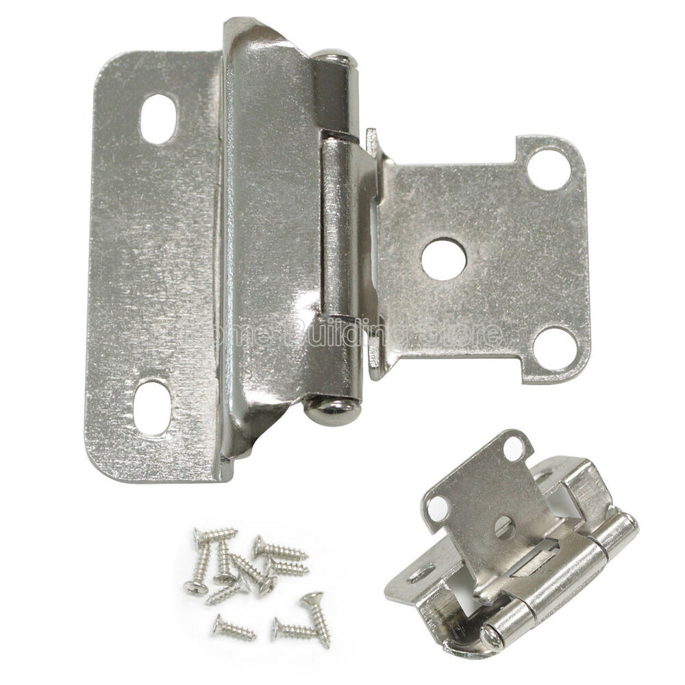 self closing door hinges for kitchen cabinets 1 4 quot overlay self closing satin nickel cabinet kitchen 9759