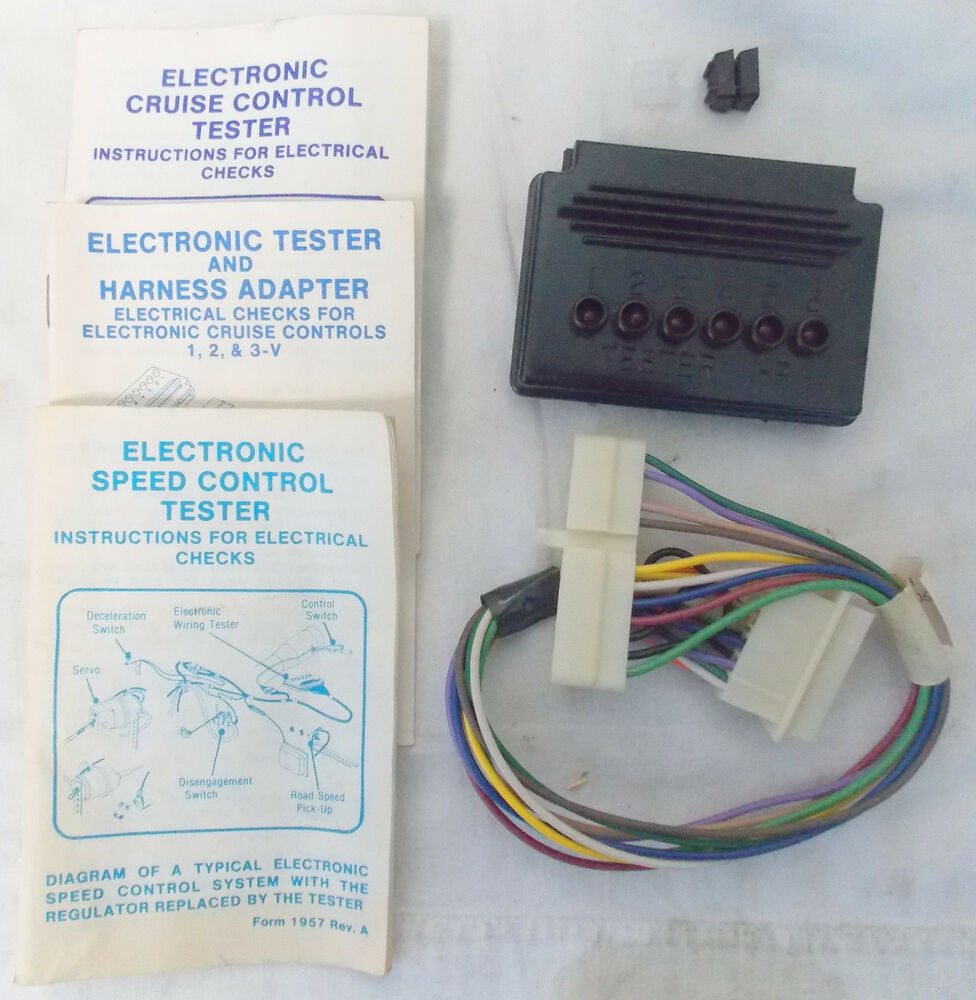 dana electronic cruise control tester w harness adapter, used indetails about dana electronic cruise control tester w harness adapter, used in good condition