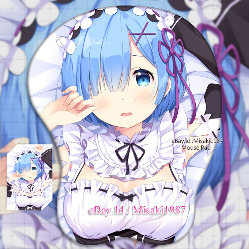 Anime Girl Zero: Re:Zero Rem Japanese Anime Girl 3D Mouse Pad Mat Wrist