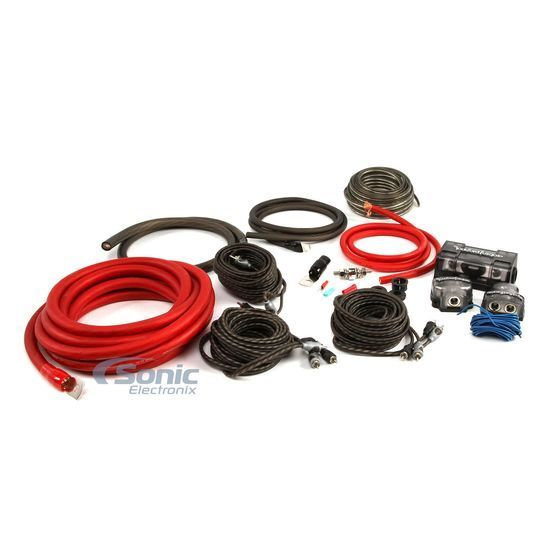 rockford fosgate rfk1d complete dual amp 1 0 awg pc ofc amplifier wiring kit ebay
