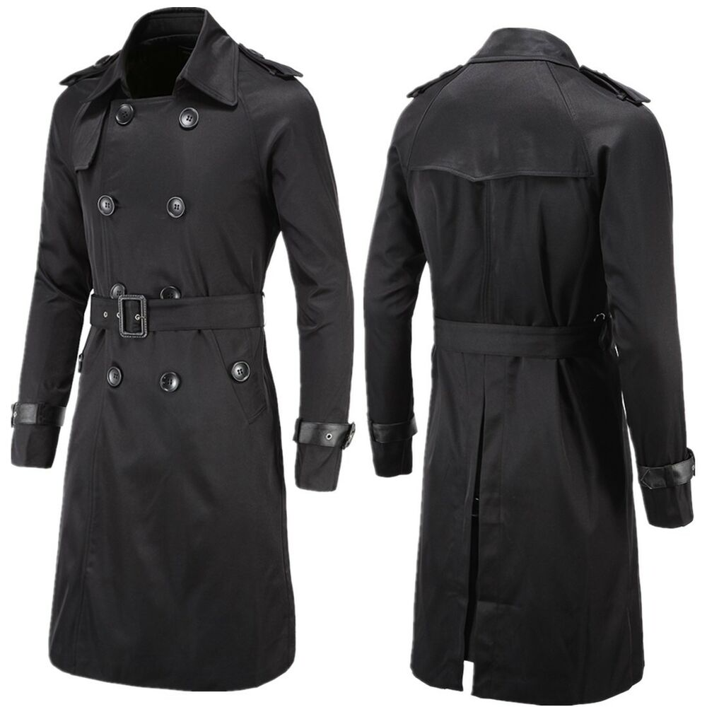 Brave the cold weather in our most iconic trench coat for men. This elegant look comes complete with all our favorite fashion details such as double-breasted front, shoulder epaulets, and a detachable wool collar that give you flexibility with your style in this men s trench coat.