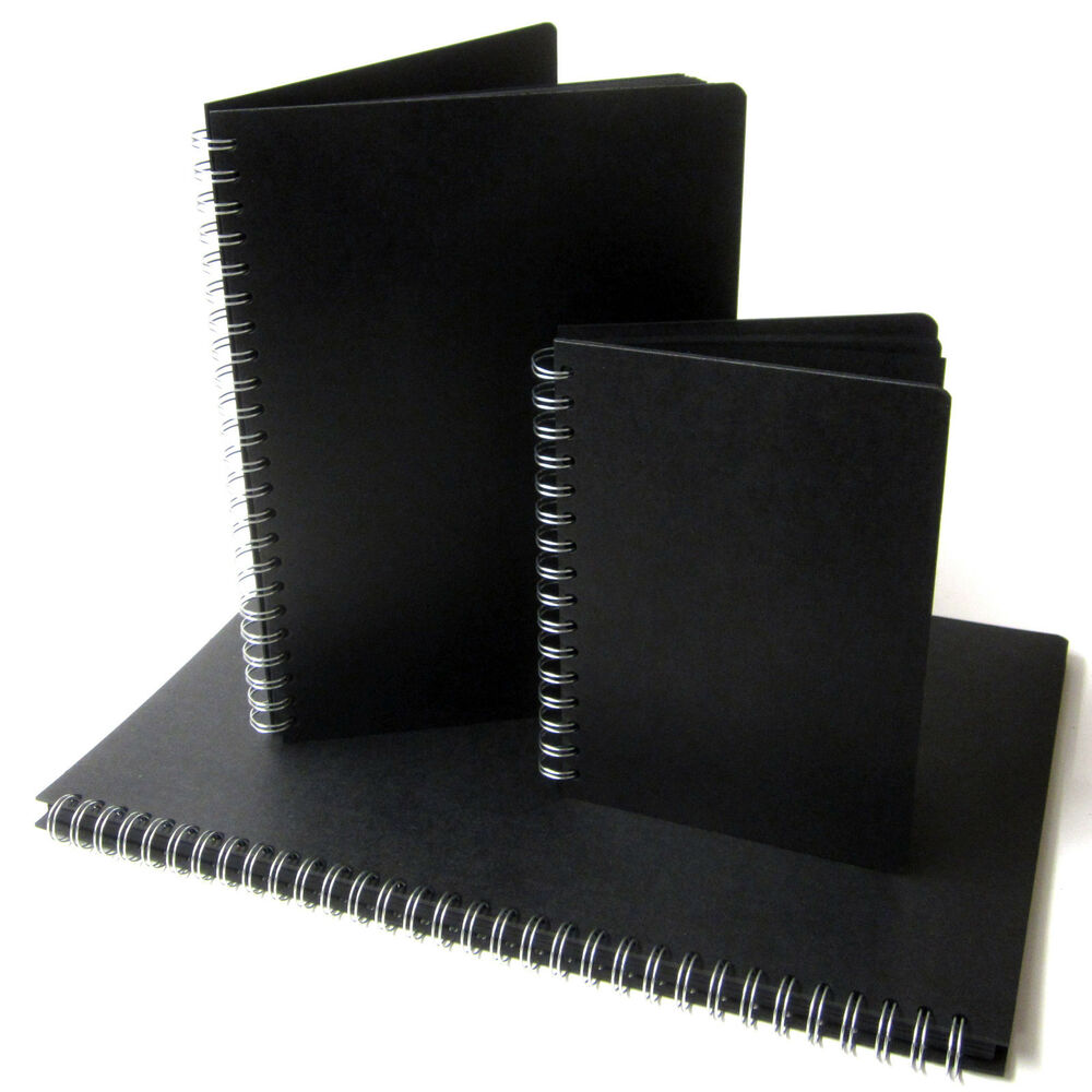 Photo Page: Black Pages Scrapbook, A3/A4/A5, Portrait, Photo Album