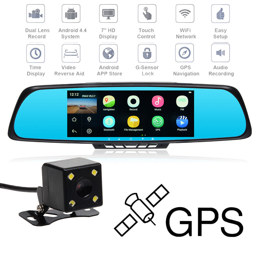 Bluetooth 7 Quot Android Hd 1080p Wifi Car Dash Cam Gps
