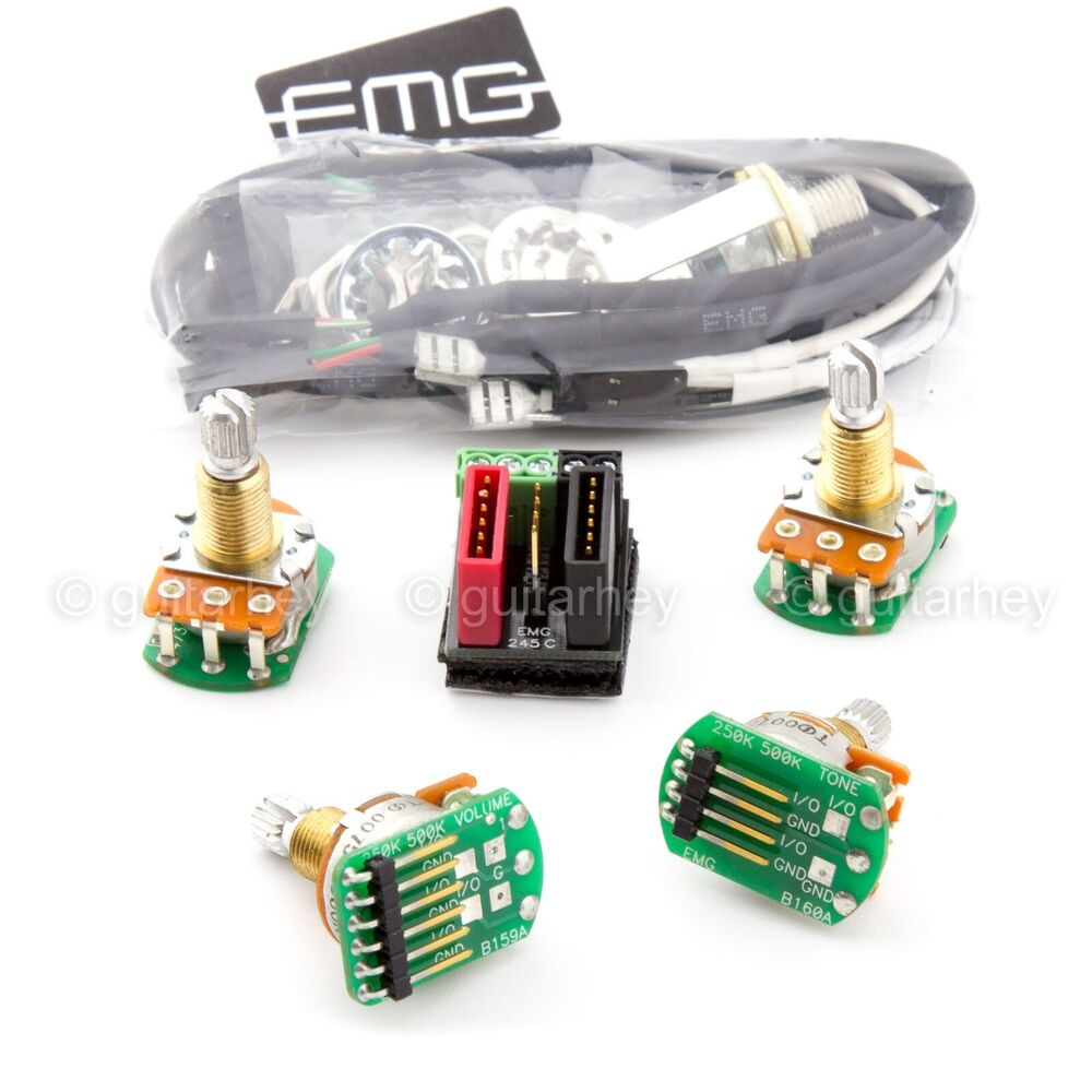 Emg Hz Passive Wiring Kit Diagram Will Be A Thing Afterburner New Solderless Conversion For 1 2 Pickups H4