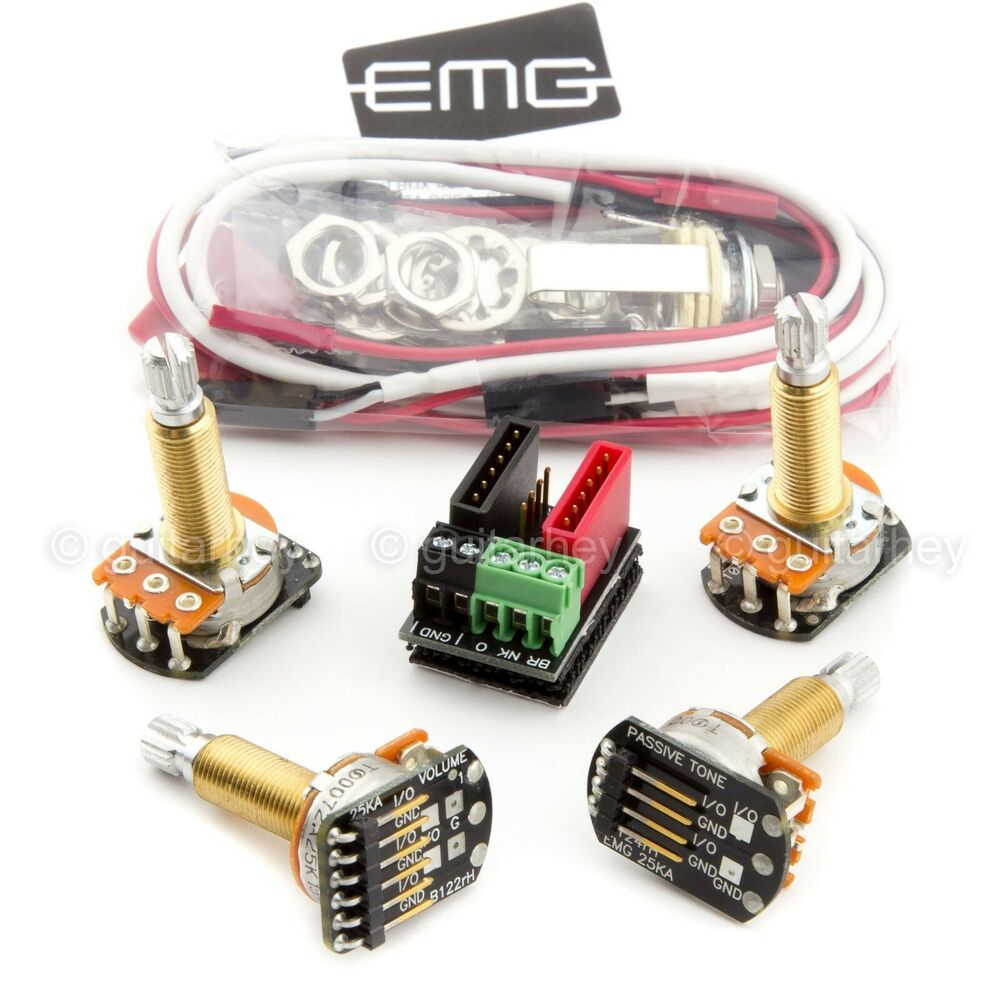 new emg solderless wiring conversion kit for 1 2 pickups active long shaft split ebay. Black Bedroom Furniture Sets. Home Design Ideas