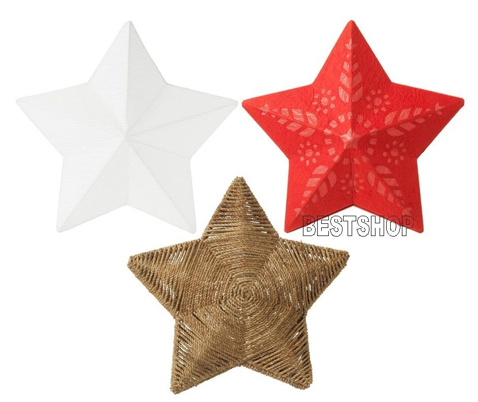 new ikea strala pendant lamp shade star decoration ebay. Black Bedroom Furniture Sets. Home Design Ideas