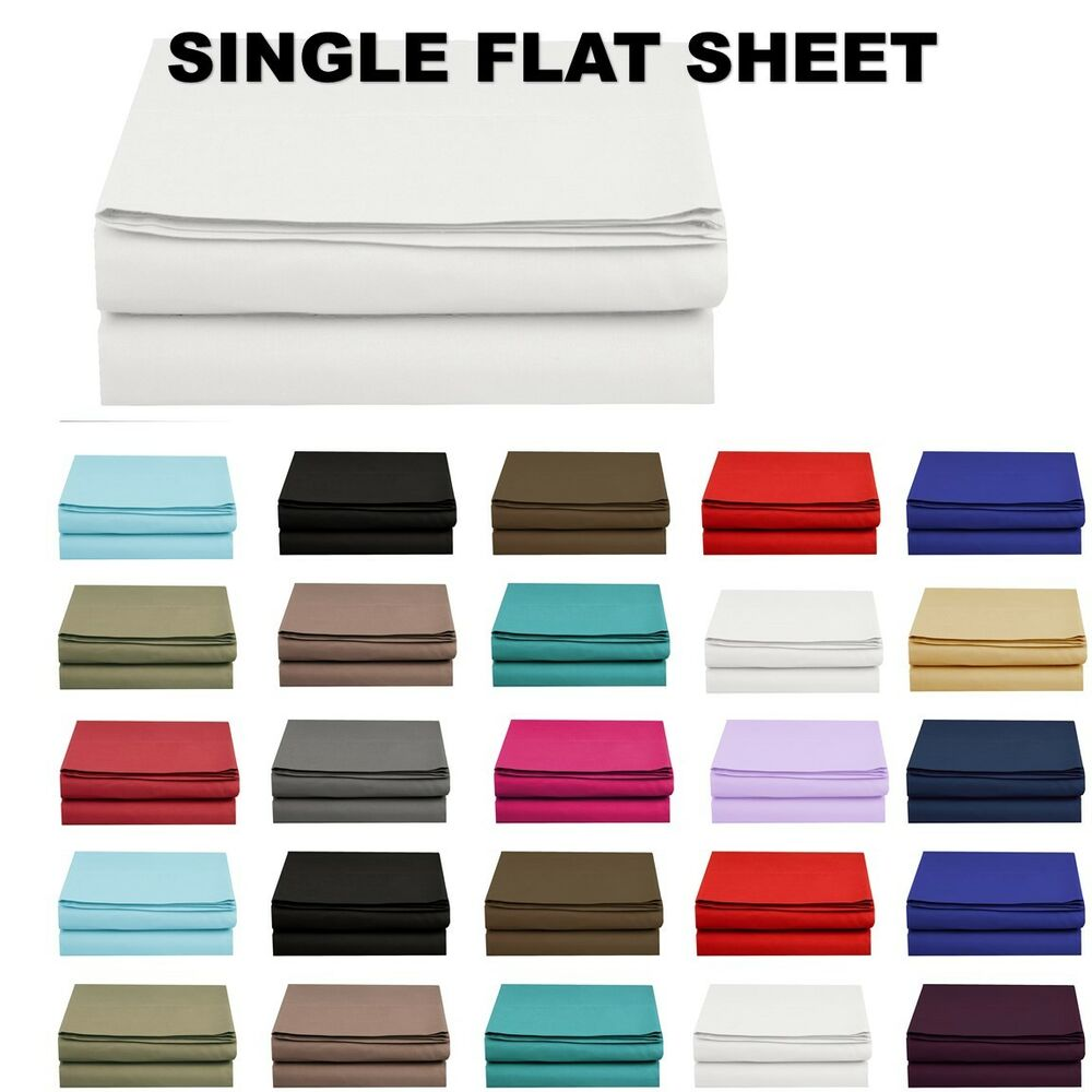 1500 Thread Count Single Flat Sheet Top Sheet Available