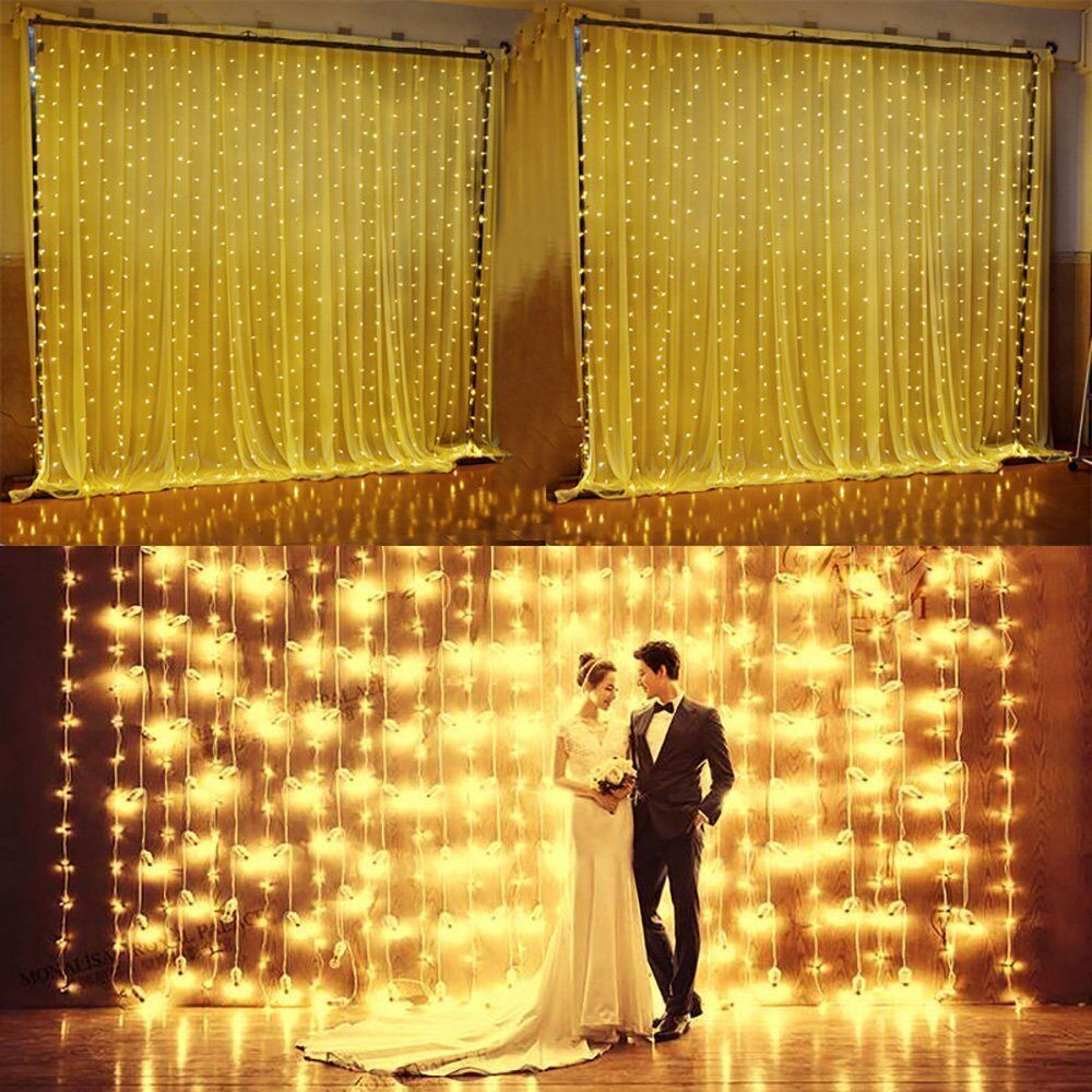 Curtain Icicle Lights String Fairy Light : Garden 304 LED Icicle Lights String Fairy Light Window Curtain Wedding Party eBay