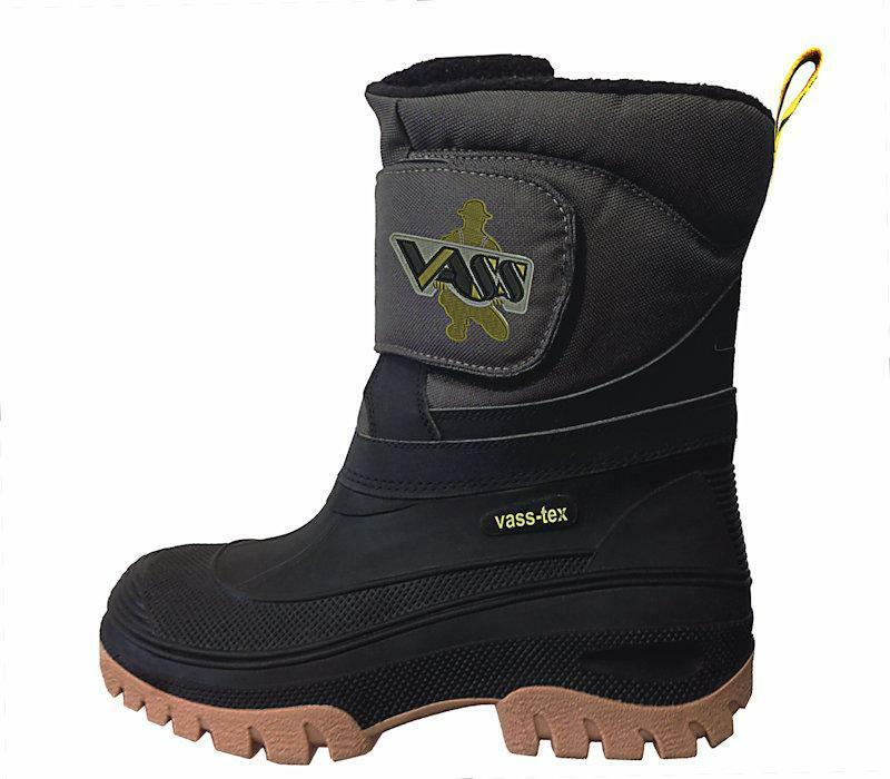 Vass rainwear new fishing fleece lined boots with strap for Mens fishing shoes