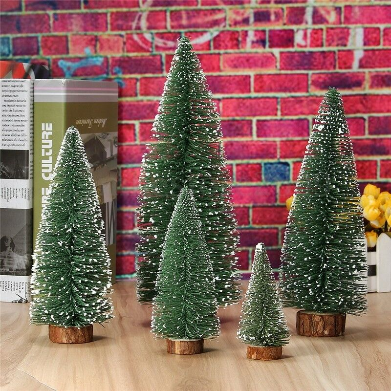 Tabletop mini christmas pine tree home office party for Small christmas decorations