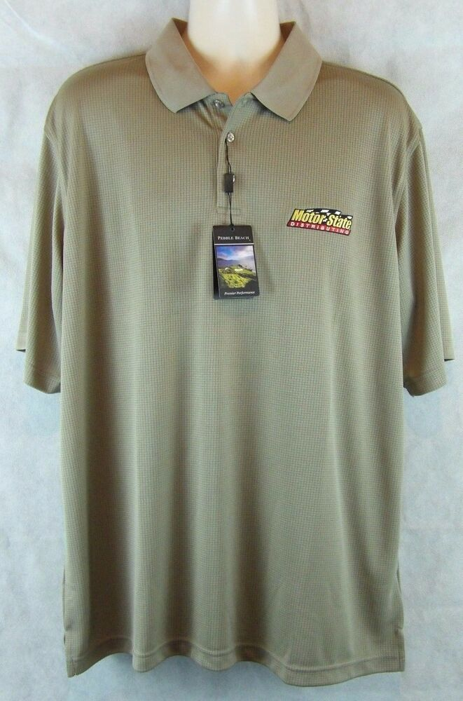 men 39 s pebble beach performance polo golf shirt motor state