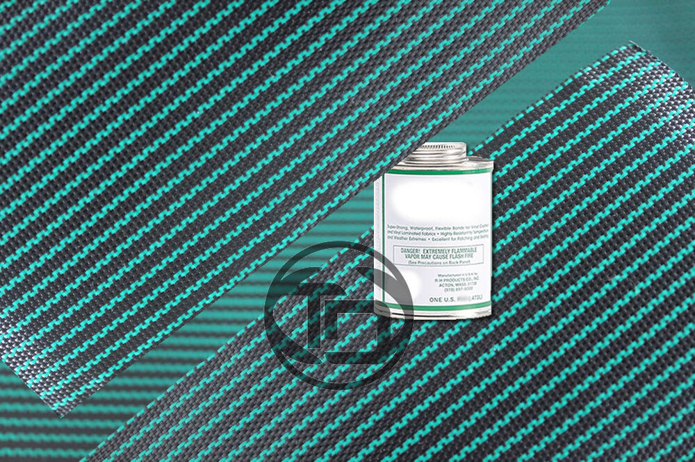2 X 2 Pool Cover Repair Patch Kit Green Mesh Safety Ebay