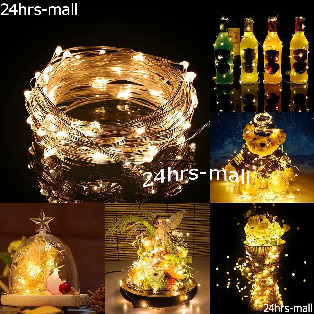 1m String Fairy Light 10 Led Battery Operated Xmas Lights