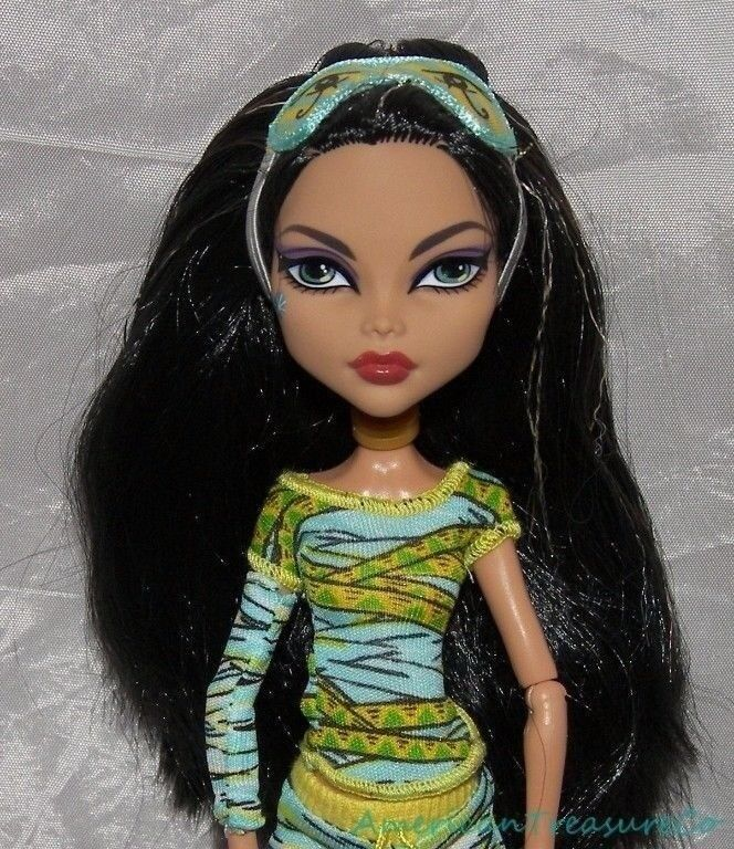 2010 monster high dead tired cleo de nile jointed fashion doll w outfit mask ebay - Masque monster high ...