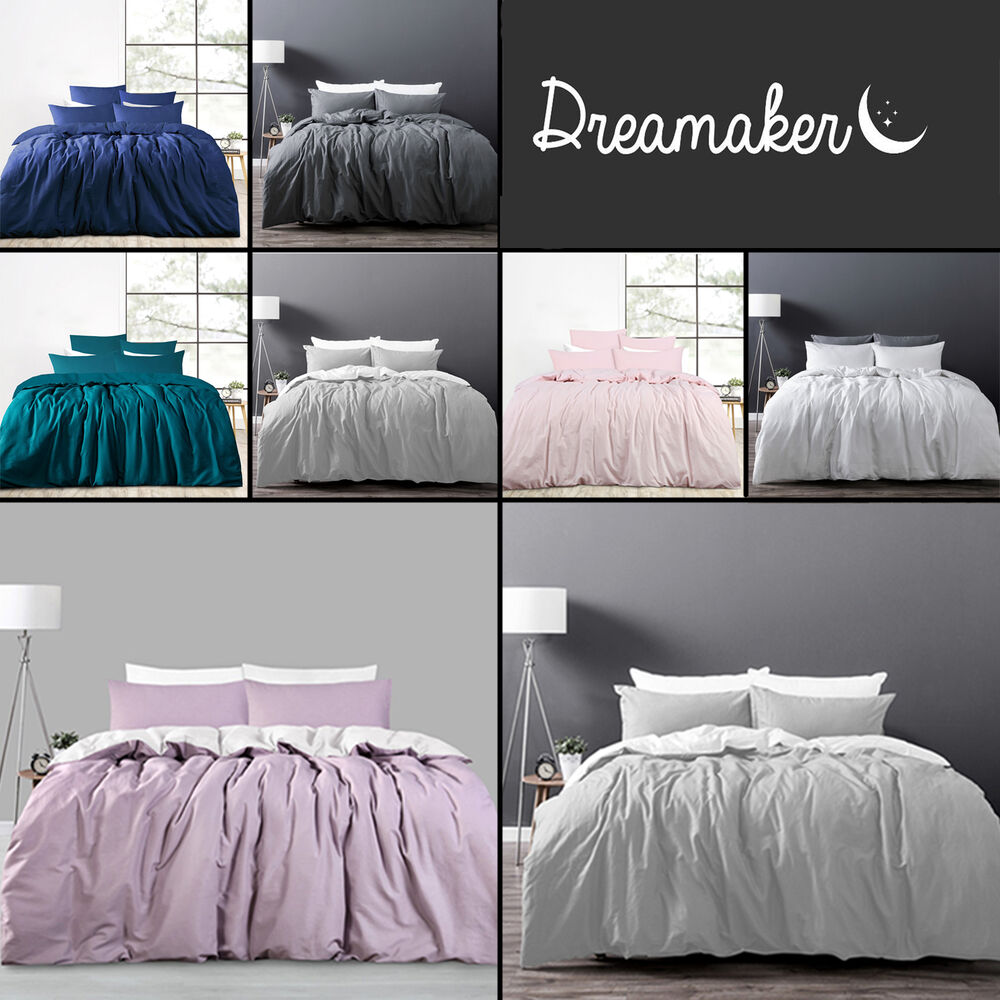 luxury cotton linen bedding duvet cover set twin full queen king size customized ebay. Black Bedroom Furniture Sets. Home Design Ideas