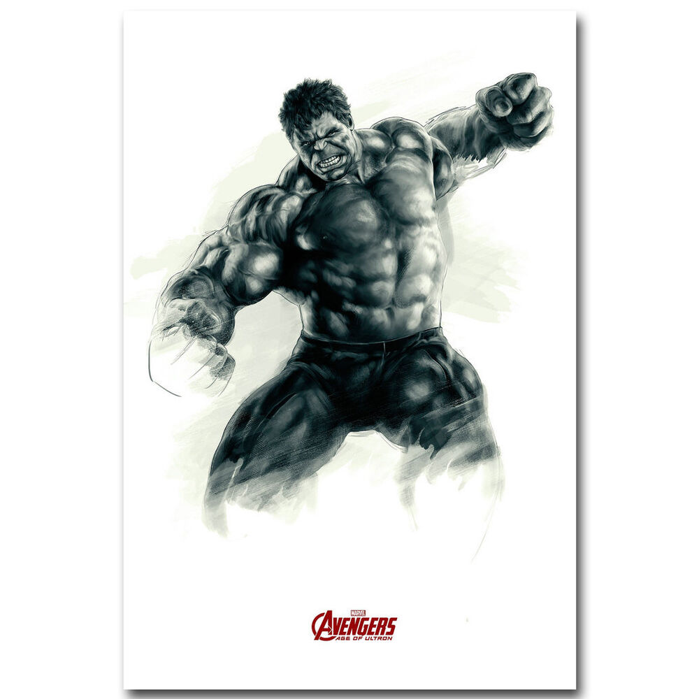 Hulk The Avengers Marvel Superheroes Movie Silk Poster 12x18 24x36